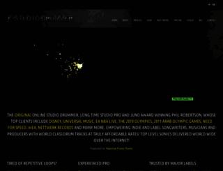 e-studio-drummer.com screenshot