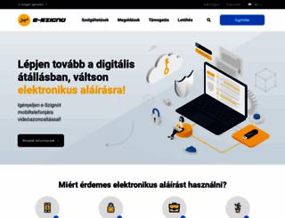 e-szigno.hu screenshot