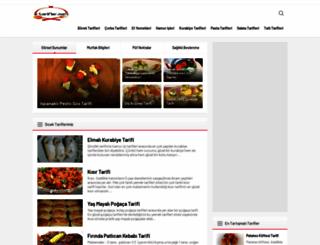 e-tarifler.com screenshot