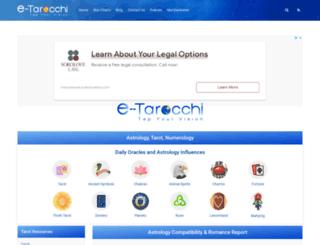 e-tarocchi.com screenshot