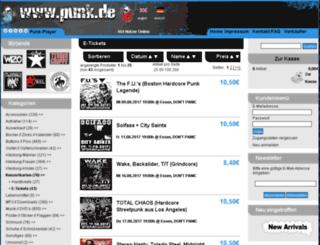 e-tickets.punk.de screenshot