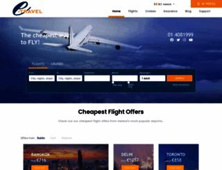e-travel.ie screenshot