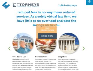 e-ttorneys.com screenshot