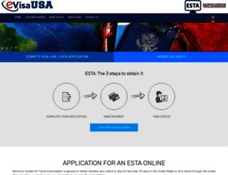 e-visa-usa.com screenshot