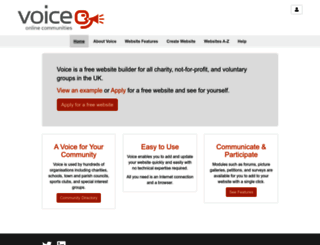 e-voice.org.uk screenshot
