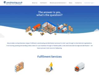 e-warehousing.co.uk screenshot