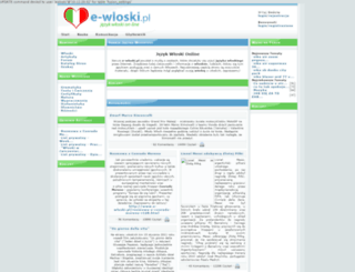e-wloski.pl screenshot