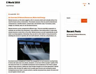 e-world-2010.com screenshot