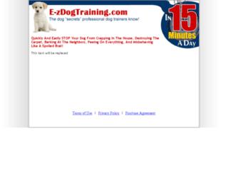 e-zdogtraining.com screenshot