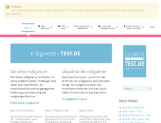 e-zigarette-test.de screenshot