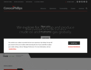 e.conocophillips.com screenshot