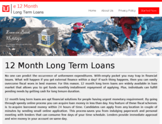 e12monthlongtermloans.co.uk screenshot