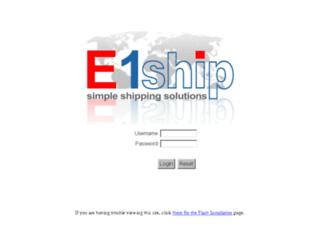 e1ship.com screenshot