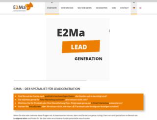 e2ma.biz screenshot