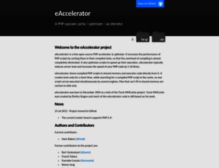 eaccelerator.net screenshot