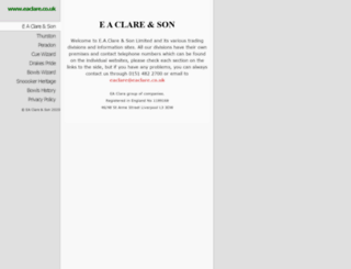 eaclare.co.uk screenshot