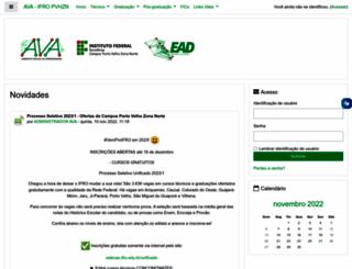 ead.ifro.edu.br screenshot