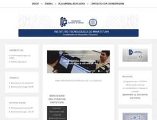 ead.itmina.edu.mx screenshot