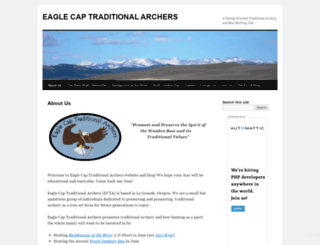 eaglecaptraditionalarchers.wordpress.com screenshot