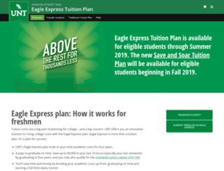 eagleexpress.unt.edu screenshot