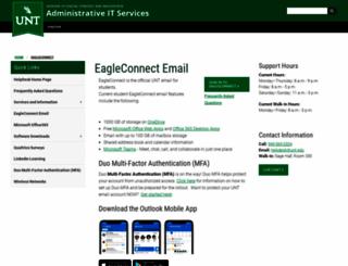 eaglemail.unt.edu screenshot