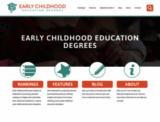 early-childhood-education-degrees.com screenshot