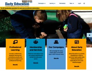 early-education.org.uk screenshot