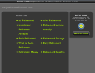 earlyextremeretirement.com screenshot