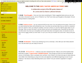 earlynativeamericantribes.wikispaces.com screenshot