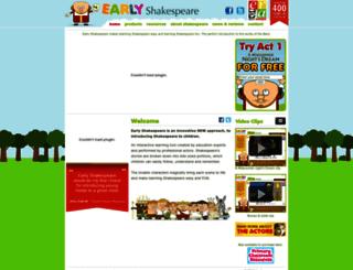 earlyshakespeare.com screenshot