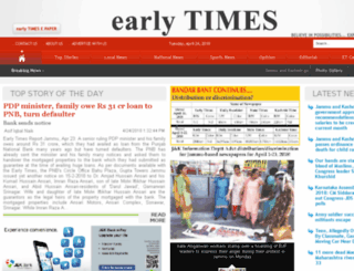 earlytimesnews.com screenshot