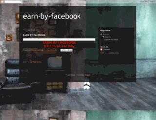 earn-by-facebook.blogspot.in screenshot
