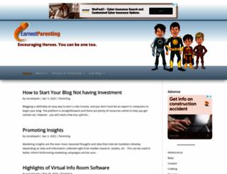 earnestparenting.com screenshot