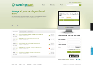 earningscast.com screenshot