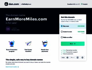 earnmoremiles.com screenshot