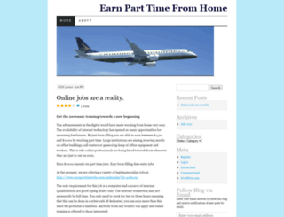 earnparttimehome.wordpress.com screenshot