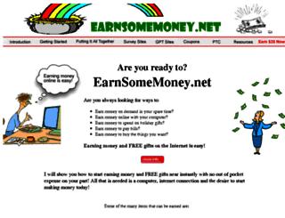earnsomemoney.net screenshot
