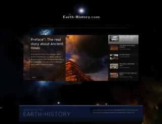 earth-history.com screenshot