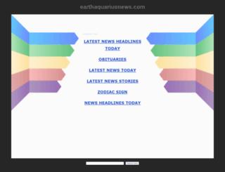 earthaquariusnews.com screenshot