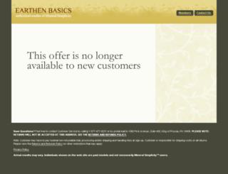 earthenbasics.com screenshot
