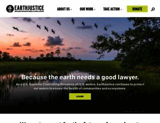 earthjustice.org screenshot