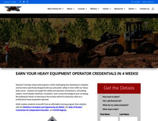 earthmoverschool.com screenshot