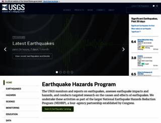 earthquake.usgs.gov screenshot