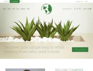 earthsdaughter.com screenshot