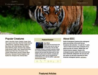 earthsendangered.com screenshot