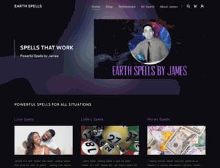 earthspells.com screenshot