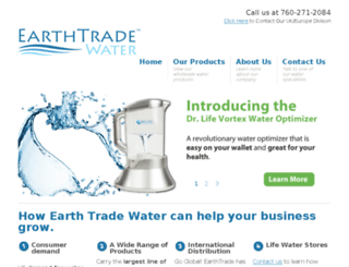 earthtradewater.com screenshot