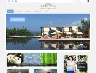 earthyogaclothing.com screenshot