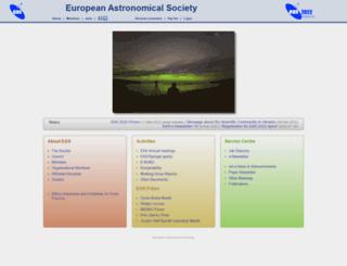 eas.unige.ch screenshot