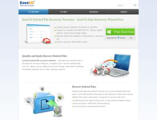 easeus-deletedrecovery.com screenshot